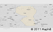 Shaded Relief Panoramic Map of Changyi, desaturated