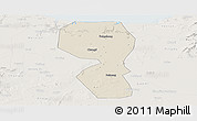 Shaded Relief Panoramic Map of Changyi, lighten