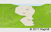 Shaded Relief Panoramic Map of Changyi, physical outside