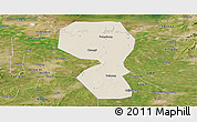Shaded Relief Panoramic Map of Changyi, satellite outside