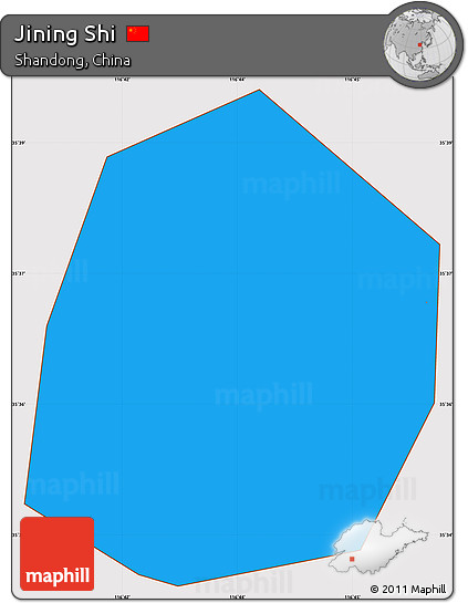Free Political Simple Map Of Jining Shi Cropped Outside - Jining map