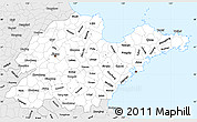 Silver Style Simple Map of Shandong