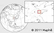 Blank Location Map of Weifang Shi