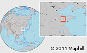 Gray Location Map of Weifang Shi