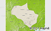 Shaded Relief Map of Zhucheng, physical outside