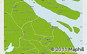 Physical Map of Baoshan