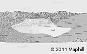 Gray Panoramic Map of Fenyang