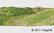 Satellite Panoramic Map of Fenyang