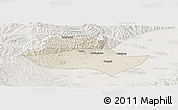 Shaded Relief Panoramic Map of Fenyang, lighten