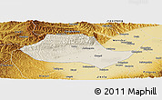 Shaded Relief Panoramic Map of Fenyang, physical outside