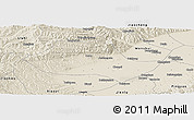 Shaded Relief Panoramic Map of Fenyang