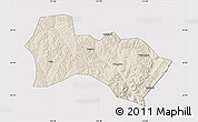 Shaded Relief Map of Heshun, cropped outside