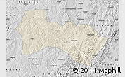 Shaded Relief Map of Heshun, desaturated