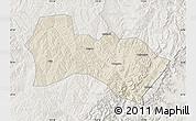 Shaded Relief Map of Heshun, lighten