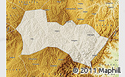 Shaded Relief Map of Heshun, physical outside