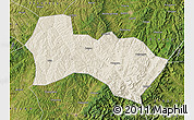 Shaded Relief Map of Heshun, satellite outside