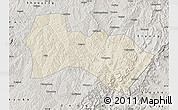 Shaded Relief Map of Heshun, semi-desaturated
