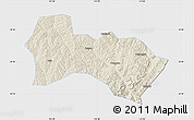 Shaded Relief Map of Heshun, single color outside