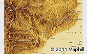 Physical Map of Jiaocheng