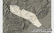 Shaded Relief Map of Jiaocheng, darken
