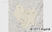 Shaded Relief Map of Lin Xian, semi-desaturated