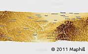 Physical Panoramic Map of Lingshi