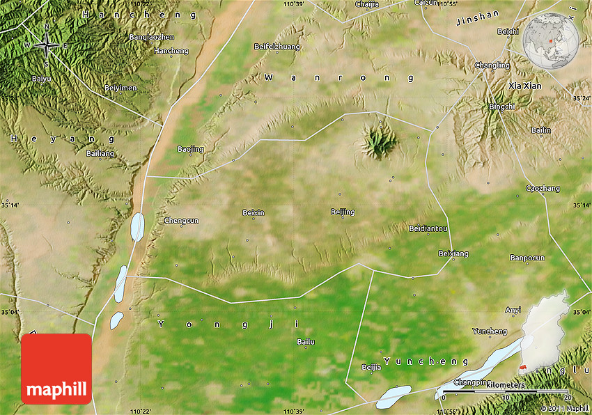 Satellite Map Of Linyi - Linyi map