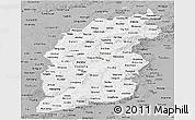 Gray Panoramic Map of Shanxi
