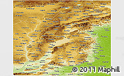 Physical Panoramic Map of Shanxi