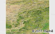 Satellite Panoramic Map of Shanxi