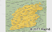 Savanna Style Panoramic Map of Shanxi