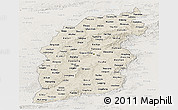 Shaded Relief Panoramic Map of Shanxi, lighten