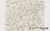 Shaded Relief Panoramic Map of Shanxi