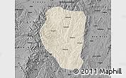 Shaded Relief Map of Qinyuan, darken, desaturated