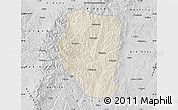 Shaded Relief Map of Qinyuan, desaturated