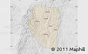 Shaded Relief Map of Qinyuan, lighten, desaturated
