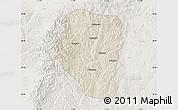 Shaded Relief Map of Qinyuan, lighten