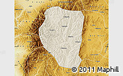 Shaded Relief Map of Qinyuan, physical outside