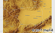 Physical Map of Shuo Xian
