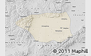 Shaded Relief Map of Shuo Xian, desaturated