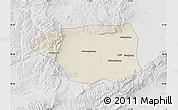 Shaded Relief Map of Shuo Xian, lighten, desaturated