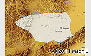Shaded Relief Map of Shuo Xian, physical outside