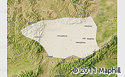 Shaded Relief Map of Shuo Xian, satellite outside