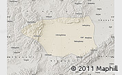 Shaded Relief Map of Shuo Xian, semi-desaturated