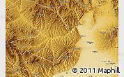 Physical Map of Taiyuan Shiqu