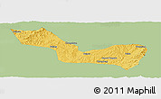 Savanna Style Panoramic Map of Wuxiang, single color outside