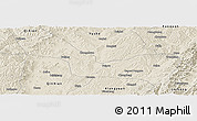 Shaded Relief Panoramic Map of Wuxiang