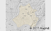 Shaded Relief Map of Xing Xian, desaturated
