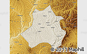 Shaded Relief Map of Xing Xian, physical outside