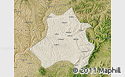 Shaded Relief Map of Xing Xian, satellite outside